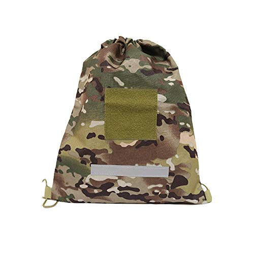 Acme Approved Heavy Duty Military Style Drawstring Backpack, Daypack, Dump Pouch (OCP-Multicam)