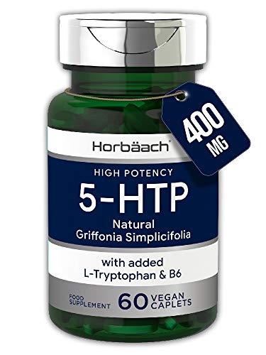5HTP 400mg + L-Tryptophan & Vitamin B6 | 60 Vegan Tablets | High Strength Griffonia Seed Extract | Non-GMO, Gluten Free Supplement