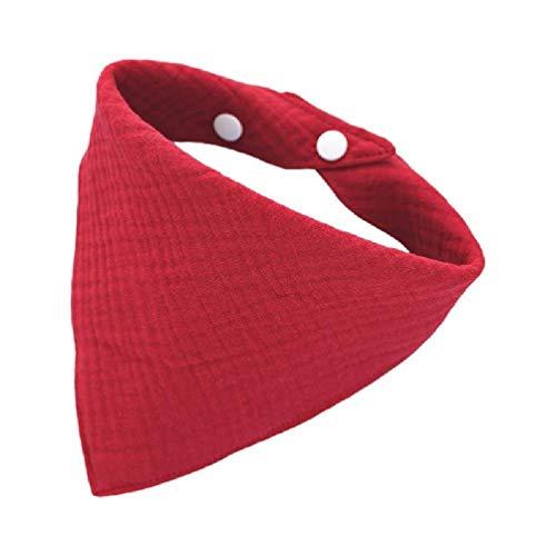 Zhichy Baberos de alimentación para bebés con broches de gasa suave para saliva, pañuelo, material de gasa, suave y cómodo, lavable