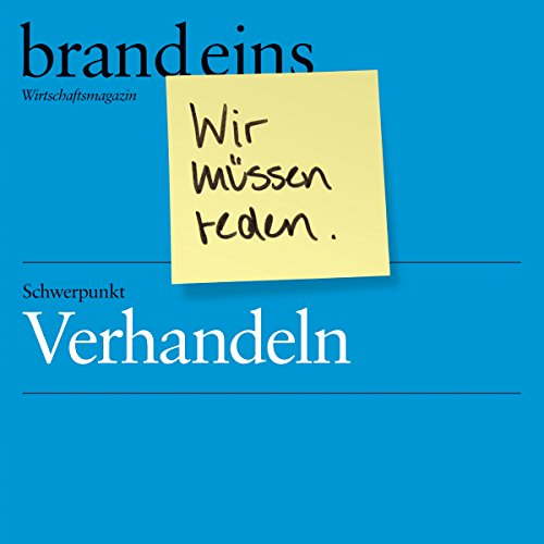 brand eins audio: Verhandeln audiobook cover art
