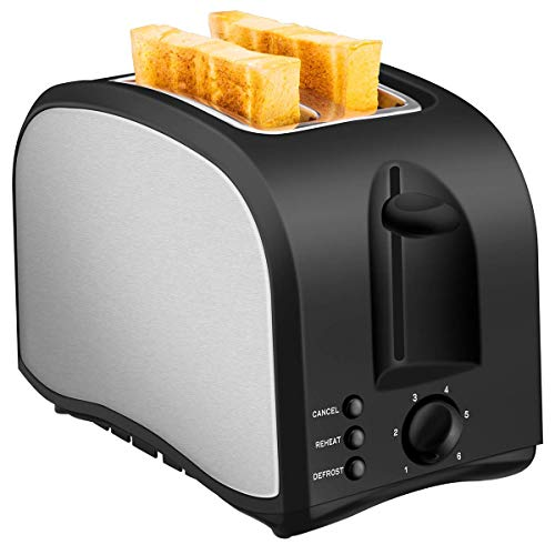 Our #5 Pick is the CUSINAID Wide Slot 2-Slice Toaster