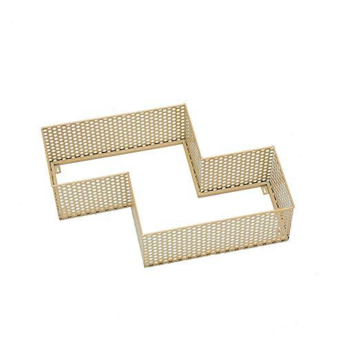 Schmiedeeisen wandregal wandbehang weinregal gitter moderne einfache freie kombination multifunktions raster ebene (rot) 60 * 40 CM