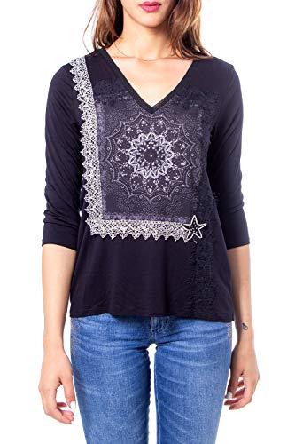 Desigual T-Shirt Donna Modello Ivette 19WWTKCB 2000 19WWTKCB XS