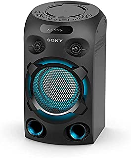 Sony MHC-V02 Compact High Power Party Speaker, One Box Music System with Bluetooth, Jet Bass Booster and Tripod Compatible...