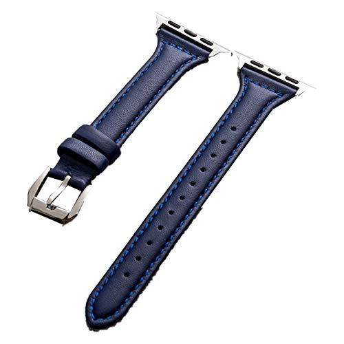 Aztnrwen Pulsera De Cuero Genuino, Compatible Con Apple Watch, Correa De Repuesto Compatible Con La Serie Iwatch Para Hombres Y Mujeres
