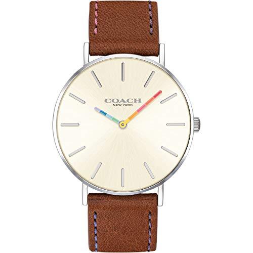 Coach | orologio da donna perry | quadrante bianco cinturino in pelle...