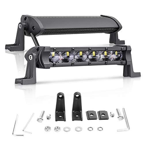 LED Light Bar 6 Inch, Niwaker 2PCS 96W Flood LED Pods Single Row Driving Lights Off Road Fog Light for Truck Jeep SUV UTV ATV Boat