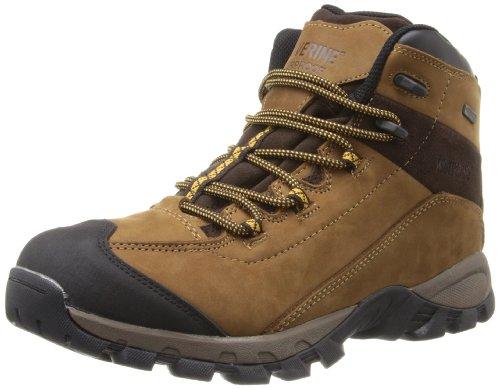Wolverine Men's Black Ledge LX Waterproof Leather Mid-Cut Hiking Boot (8.5 EW in Cigar/Gold)