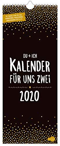 Du + Ich Paarkalender 2020 mit 3 Spalten | liebevoll gestalteter Wandkalender, Paarplaner, Partnerkalender von Trendstuff by Häfft - Hand in Hand und organisiert durchs Jahr!