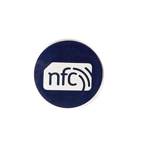 10brillante azul con Blanco Logo ZipNFC 30mm