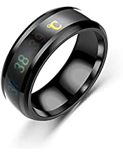 Smart Temperature Couple Lover Ring Color Change Mood Unisex Ring Stainless Steel Ring Hand Jewelry