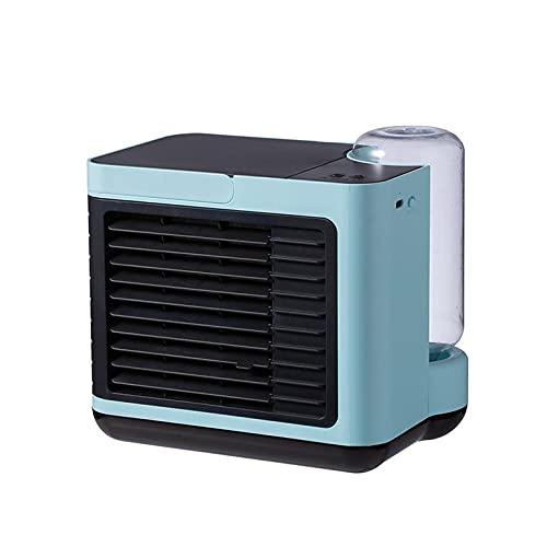 QiKun-Home Ventola per Aria condizionata Ricaricabile a ioni Negativi USB a Tre velocità di purificazione dell'Aria a velocità del Vento a Basso Rumore per l'home Office Blu