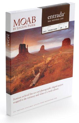 Moab Entrada Rag Natural (Papier für Tintenstrahldrucker, A4, zweiseitig, 300 g, Hochglanz, 25 Blatt)