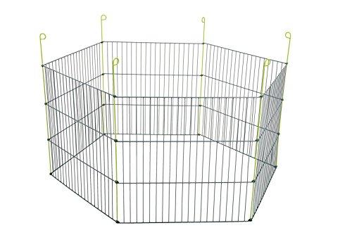 Zolux Hexagonal Parc Métal Extérieur pour Rongeur Gris 120 x 120 x 61 cm