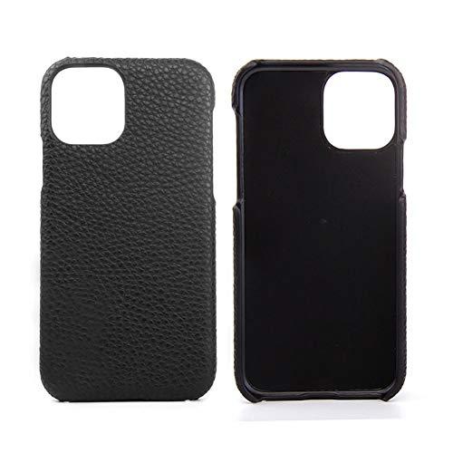 Lederen Case voor Iphone 11 / SE 2020 / SE 2 Premium Echte Koeienhuid met Nieuwe Slanke Ontwerp Dunne Bescherming Harde Achterkant Van de Behuizing,Black,SE 2