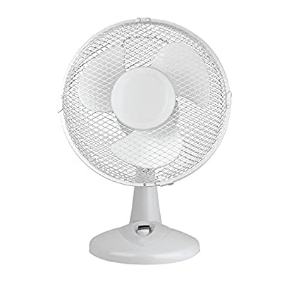 Status S9DESKFAN1PKB Portable 9-Inch Oscillating Desk Fan, White