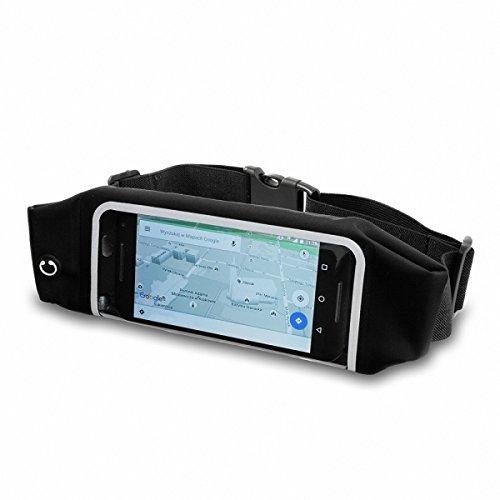 Gütersloher Shopkeeper Neopren Bauchtasche Hüfttasche schwarz geeignet für Huawei Nova- Jogging Sport Laufgürtel Gürteltasche Handytasche Schutzhülle