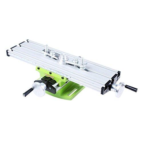 Demiawaking Tavolo a Croce di Precisione Tavolo a Croce per Trapano a Colonna Tavolo da Lavoro Multifunzione per Fresatrice