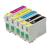 Bramacartuchos - 5 X Cartuchos compatibles NON OEM para Epson T1811, T1812, T1813,T1814, XP-30, XP-102, XP-202, XP-205, XP-302, XP-305, XP-402, XP-405, XP-405wh, XP30, XP102, XP202, XP205, XP302, XP305, XP402, XP405, XP405wh,