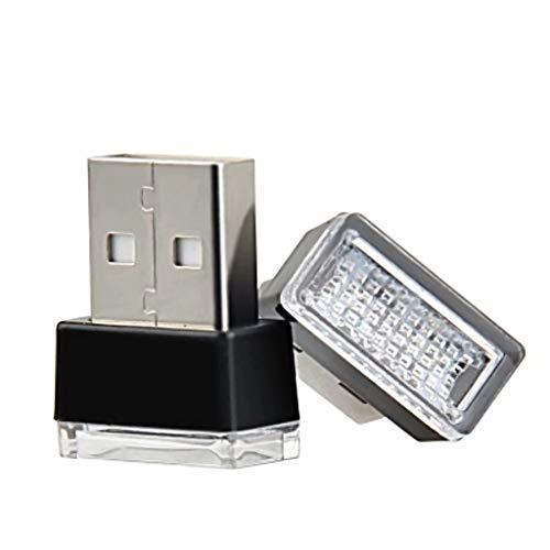 YZX Auto USB Mini Atmosphärenlicht LED Modifikationsfrei Direkteinsatz Innendekoration Licht Licht Zigarette Feuerzeug Atmosphärenlicht-Pink Lila