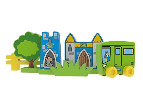 Millaminis 3140sicherweicher construcción–Burg con Burg Torre y un karavan con Papagayo Pepe como Conductor