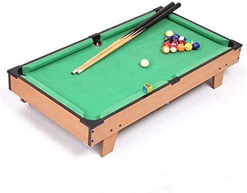LINANNAN Kombination Spieltisch Kreative Mini Billardtisch Tragbare Tischplatte Billardtisch-Set mit Cues, Bälle, Abstich Dreieck, grüner Filz für Kinder Erwachsene (Farbe, Eine Farbe, Größe, 52 *.