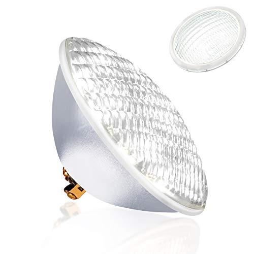 KOLLNIUN LED Poolbeleuchtung, PAR56 Unterwasserleuchten, 6000K Kaltweiß Schwimmbadleuchten, IP68 Wasserdicht Poolscheinwerfer, 40W 12V AC/DC Unterwasser Beleuchtung