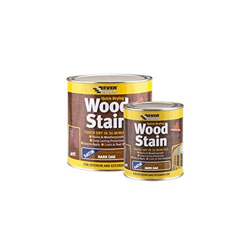 Everbuild Quick Drying Wood Stain, Dark Oak, 750 ml