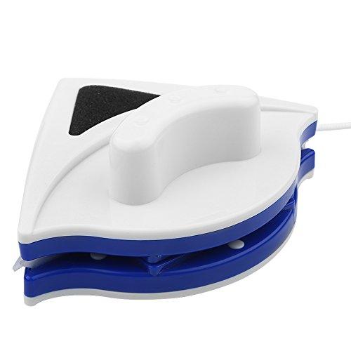 Alvinlite Limpiacristales magnético Cepillo limpiacristales de Ventana de Doble Cara Cepillo Limpiador de Ventanas Herramienta de Limpieza Azul