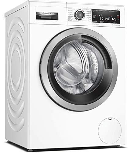 Bosch WAV28M40 Serie 8 Waschmaschine Frontlader / A+++ / 152 kWh/Jahr / 1400 UpM / 9 kg / Weiß / 4D Wash System / Fleckenautomatik / Home Connect