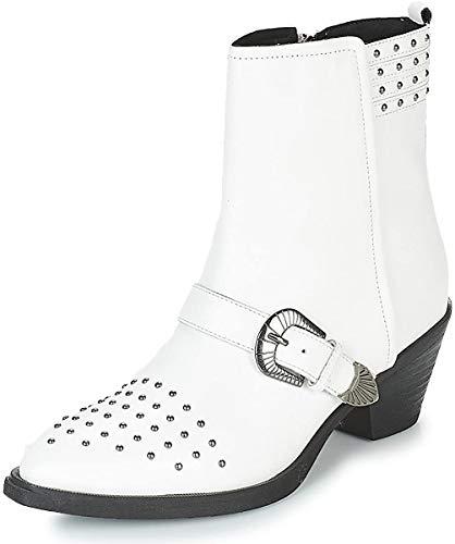 Geox Damen D LOVAI A Cowboystiefel, Weiß (White C1000), 39 EU