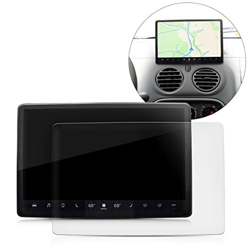 kwmobile 2X Navi Folie kompatibel mit Tesla Model 3 - Schutzfolie für Festeinbau-Navigationsgerät - Displayfolie matt transparent