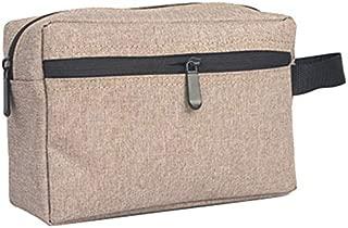 SODIAL Brown 1 Pc Travel Men Wash Bag Waterproof Makeup Bag Toiletry Wash Kit Storage Pouch for Women Cosmetic Bag