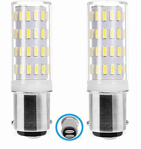 B15D LED 12V-24V Lampe Glühlampe, B15d Bajonett-Doppelkontakt, 5W Kaltweiß 6000K 40W Äquivalent, Für Beleuchtung von Niederspannungsgeräten. 2-er Pack