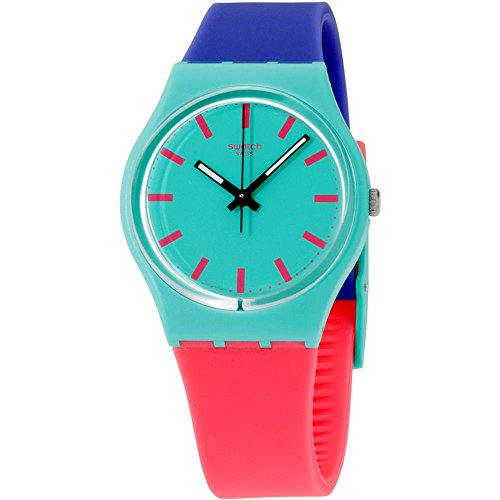 Swatch Shunbukin Teal Dial Plastic Silicone...