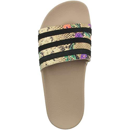 adidas Adilette W, Zapatillas de Gimnasio Mujer, St Pale Nude/Core Black/St Pale Nude, 36 2/3 EU