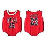DHRR Mameluco de Baloncesto bebé Verano 23# Michael Jordan Pijamas Infantiles Creepers Pijama Onesies Traje Infantil Mono Ropa