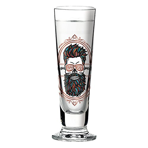 RITZENHOFF Black Label Schnapsglas von Santiago Sevillano, aus Kristallglas, 40 ml, mit fünf Schnapsdeckeln