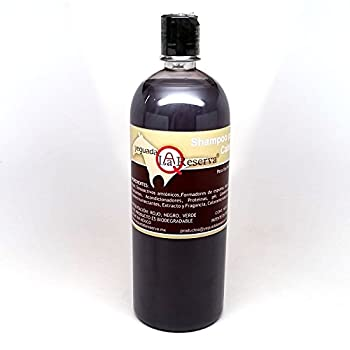 Yeguada La Reserva Shampoo de Caballo Negro  1 liter Bottle  - All Natural - For Strong Healthy And Beautiful Hair  For Dark to Black Colored Hair