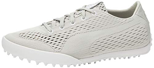 PUMA Monolite Cat EM, Zapatos de Golf para Mujer, Gris (Gray Violet White), 39 EU