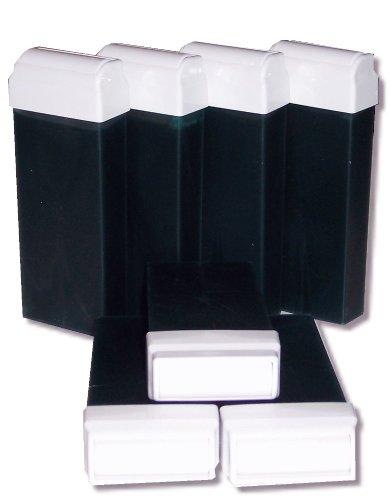 storepil - 7 recharges 100 ml de cire à épiler jetable AZUR pour épilation avec bandes