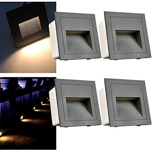 Arotelicht Arotelicht 4er 3W LED Treppenlicht Bild