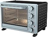 Cocina profesional de 25 litros Mini horno azul, olla de arroz multifunción, control de temperatura ajustable y temporizador, diseño curvo simple, anti-bump suave y suave -1600W