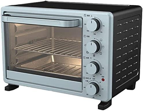Cocina profesional de 25 litros Mini horno azul, olla de arroz multifunción, control de temperatura ajustable y temporizador, diseño curvado simple, anti-bump suave y liso -1400W