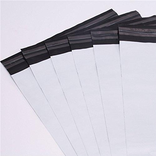 100 sobre de plástico envío 250 x 350 mm + 40 mm solapa ripstop sobre blanco opaco
