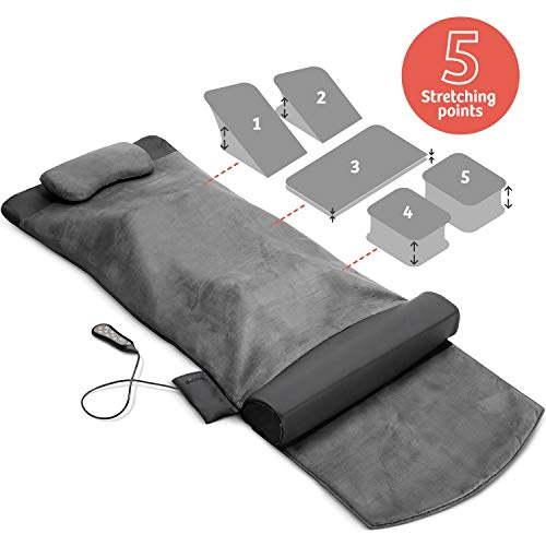 Back Stretching Electric Mat - 4 Stretching Programs for Physiotherapy at Home - Full Body & Back...