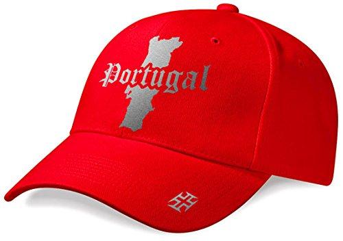 DASHOP Casquette Portugal Mini Pays Rouge et Argent Métallisé