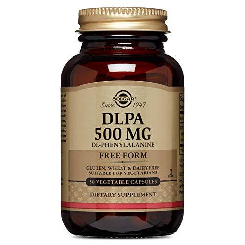 Solgar DLPA (DL-Fenilalanina) Cápsulas Vegetales de 500 mg, Envase de 50