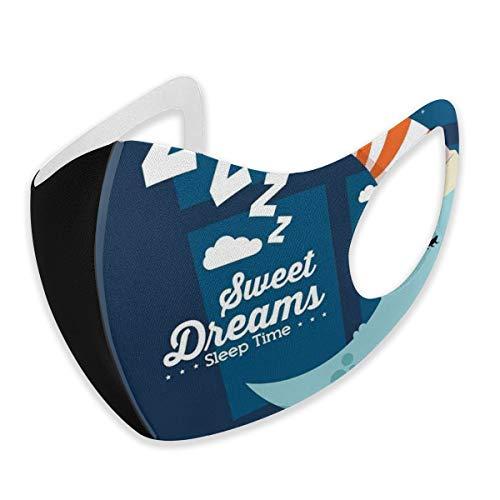 Cubierta facial cómoda, resistente al viento, para dormir o para dormitorio, con luna en un sombrero en cielo estrellado, decoraciones faciales impresas para todos