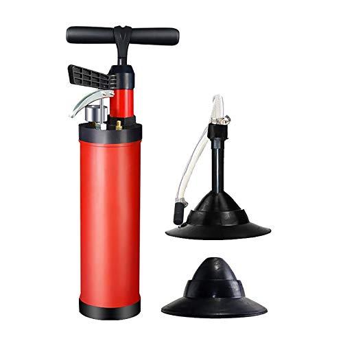 Desatascador De Desagües De Alta Presión Bomba De Drenaje Aire Comprimido Limpiador Eficaz Y Rápido Tuberías Incluye 2 Adaptadores Baño Cocina